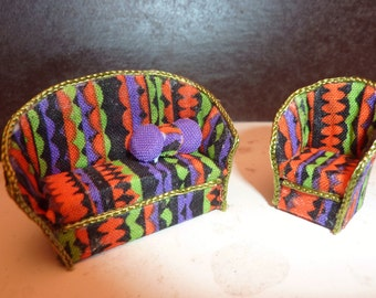 QS Halloween Sofa and Chair with Pillows