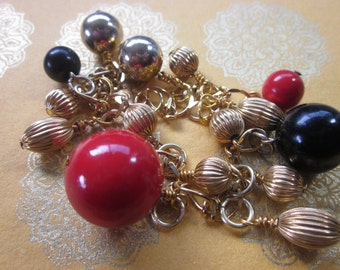 Gold REpurposed Retro Bracelet