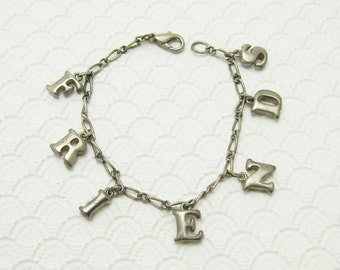 Vintage Charm Bracelet Friends Jewelry B6555