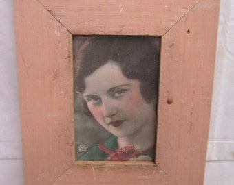 RECLAIMED WOOD Picture Frame 4x6 Shabby Pink Recycled CHIC s2271-14