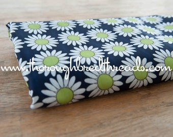 Colorful Daisies - Vintage Fabric Mod 60s 70s Novelty Groovy Lime Green Daisies New Old Stock
