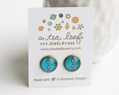 Spring raindrops illustrated post earrings