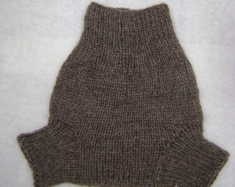 SMALL - All Natural Un-dyed Hand Knit Wool Diaper Soaker, cloth diaper cover, gift for baby, knits for baby