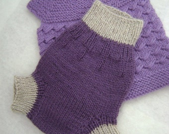 NEWBORN -SMALL - All Natural Hand Knit Wool Diaper Soaker, cloth diaper cover, knits for baby, gift for baby