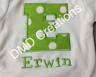 Applique Block Letter Shirt
