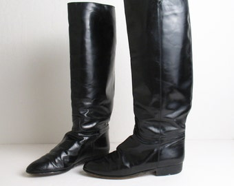 ITALIAN LEATHER tall riding boots, 7