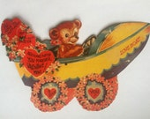 Vintage 1950s Pun Valentines Large