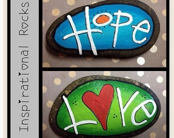 Inspirational Painted Rock/Stone!! Can be personalized with any words!!