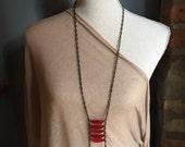Red ladder necklace