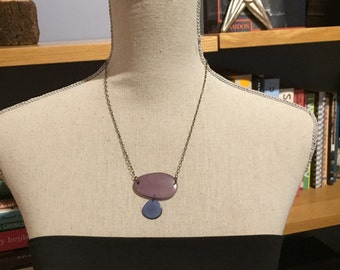 Lavender periwinkle necklace