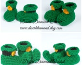 Crochet Pattern 102 - Leprechaun Baby Booties - 5 Sizes