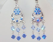 Swarovski Crystal Chandelier Earrings - MADE TO ORDER in Any Color