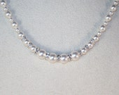 Swarovski Pearls & Crystals Bridal Necklace - Shown in SWAROVSKI WHITE - Available in All Colors