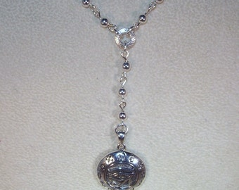 Sterling SIlver Rosary Necklace - Custom Made - Yolanda Foster Style
