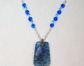 Blueberry Quartz Trapazoid Necklace