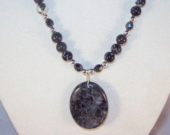 Labradorite and Zebra Jasper Necklace