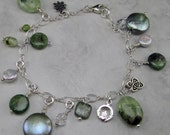 Sterling Silver and Gemstone Charm Bracelet - Sale!
