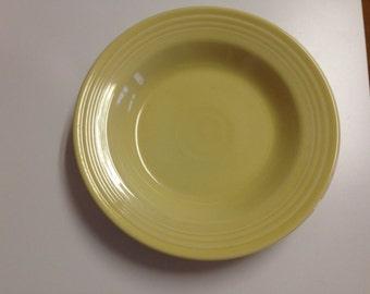 "Fiesta Ware Light Yellow 9"" Soup Bowl"