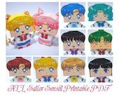 ALL Sailor Senshi and Sailor ChibiMoon Printable Paper Craft PDF