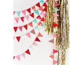 Valentine mini bunting *sold BY THE FOOT* party/photo prop