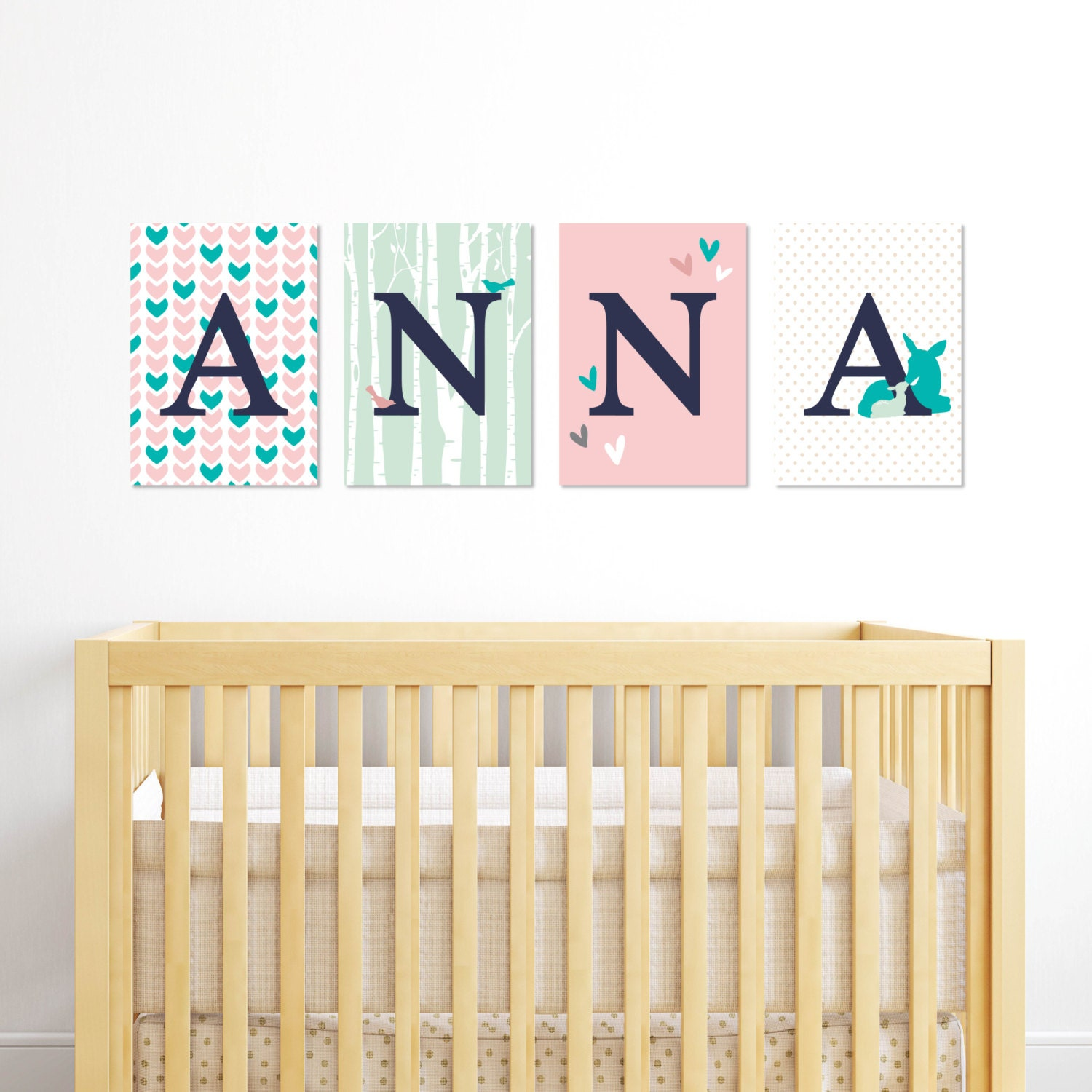Baby Wall Letters Animal Nursery Decor Gift For Newborn