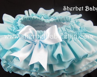 Aqua All Around 4 Ruffle Sassy Pants Diaper Cover Skirt Fabric Tutu This is Over the Top Cute