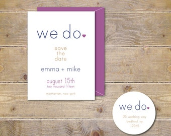 Wedding Save The Dates . Chic Save The Dates . Wedding Announcements . Save the Dates - We Do