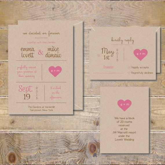 Rustic Wedding Invitations Rustic Wedding Barn Wedding