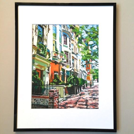 New York Art Framed Nyc 8x10 Print 11x14 Frame