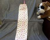 Plastic Bag Holder Sock, Pink Roses Print