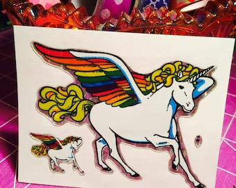 Rare Vintage Prism Unicorn Stickers 1980s