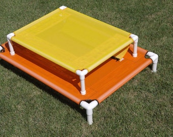 Custom Made Dog Bed Raised Cot MESH Pet Screen 4 Sizes To Choose From, Dog Bed, Large Bed, 8 Colors Medium Dog Large Dogs Up To 130 Pounds.