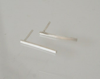 Silver Bar Earrings, Stick Earrings, Post Earrings, Sterling Silver Bar Earrings, Silver Post Earrings, SIlver Stud Earrings, Modern Earring