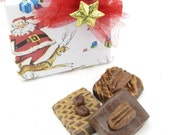 "Fake Fudge Gift Set. ""Oh Fudge! Collection"" Can Be Magnets. Set of 3 Candies. Fab Photo Props, Stocking Stuffer. Candy Props. 12 Legs Design"