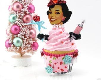 "Fake Cupcake Retro Inspired ""Cupcake Queen Collection"" Limited Edition Good Luck Cupcake Charm Original 12 Legs Original Design/Concept"