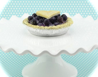 Fake Blueberry Pie. 1 Mini Pie. Retro Cookbook Pie Collection. Perfect for Home Stagers/Photo Props. 12 Legs Debut Design on Etsy