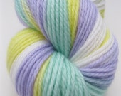 "DK Wool Yarn ""Signs of Spring"" - Hand Dyed DK Yarn, Hand Dyed Yarn in yellow, green, lilac, white - superwash wool, DK weight, 218 yards"