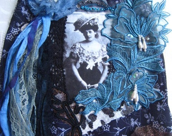 Art Dress Wall Hanging Embellished Lace OOAK
