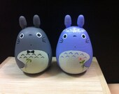 Customize item: 2 Tototor Dolls blue and gray  (L size) with bokeh and tie