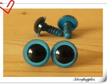 14 mm Blue Toy eyes  Safety eye amigurumi eye doll eyes cat eye 14  pieces EB72