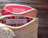 Personalization Label Only - Personalized Clutch Tag - Bridesmaid Clutch Purse Label - Wedding Accessory -