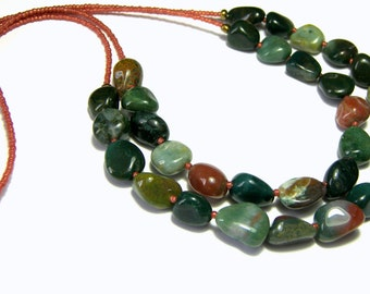 Fancy Jasper Layered Necklace, Double Stranded Necklace, Jewelry for Women, Perfect Jewelry, Fine Jewelry, Unique Jewelry, Gift Ideas