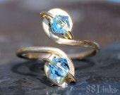 Aquamarine Toe Ring March Birthstone Jewelry