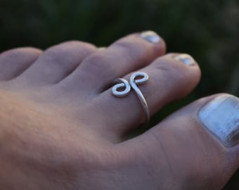 Toe Ring Elvish Silver Jewelry