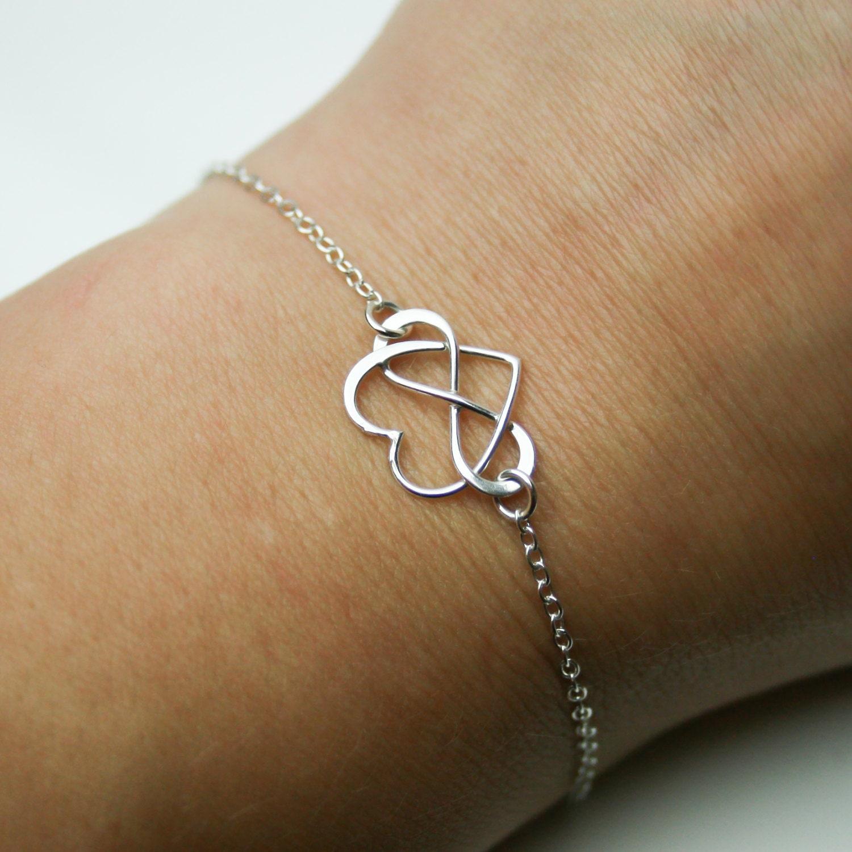 bracelet coeur infini en argent sterling bracelet br silien. Black Bedroom Furniture Sets. Home Design Ideas