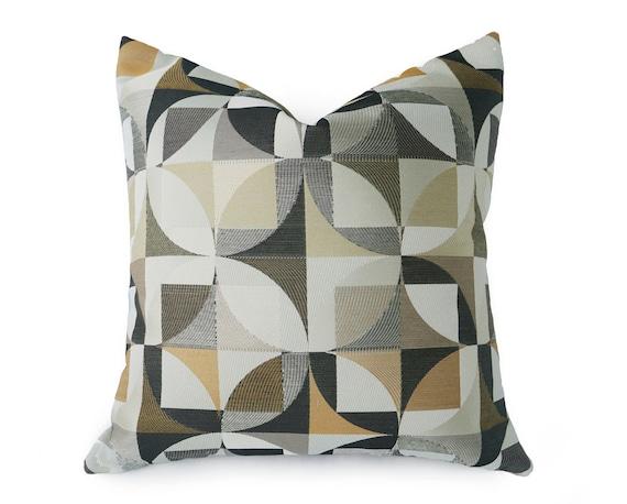 Industrial Pillows Graphic Decorative Pillow Circles