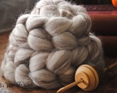Blue Face Leicester Natural Wool Roving Combed Top Spinning or Felting Fiber Humbug Blended Top - 4 oz