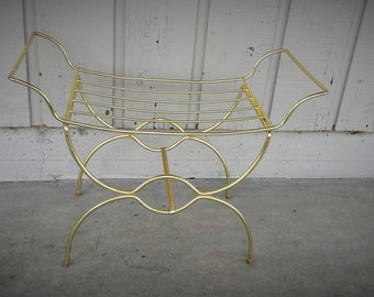 1950's Gold Hollywood Chic Vanity Seat