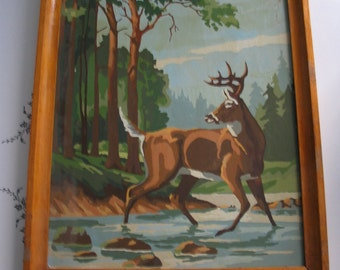 Vintage Buck Paint By Number Painting Very Cool