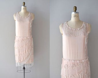French 75 dress | 1920s beaded silk dress • vintage 20s dress